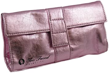 Amazon.com : Too Faced Pink Gem Cosmetic Makeup Bag with Logo ...