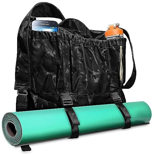 Amazon.com: Bolsa de yoga multiusos grande de 3 tonos de ...