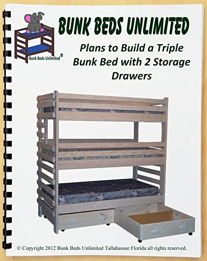 Triple Bunk Extra Tall Diy Woodworking Plan To Build Your Own With