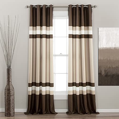 Lush Decor Alexander Window Curtain Panel Set of 2
