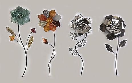 Amazon.com: Metal Floral Wall Art - The Delphinium, Narcissus ...