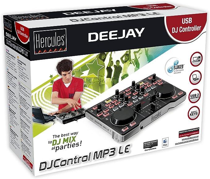 Controlador DJ MP3 Hercules 6401034 negro
