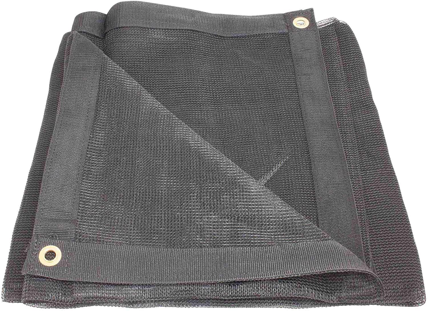 Mytee Products 12' x 26' Black Heavy Duty 6 Oz 70% Shade Mesh Tarps with Grommets ROLL-Off | Sturdy Mesh Tarp Shades for Sun Light Blockage, Green House, Garden, Swimming Pool, Balcony Privacy Mesh