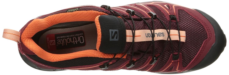 Salomon Women's X Ultra 2 GTX W Hiking Shoe B01HD2V4ZW 9.5 M US Fig/Tibetan Red/Flame