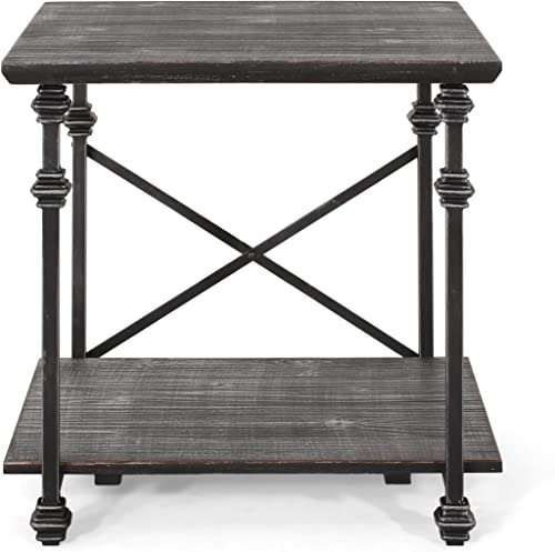 Christopher Knight Home Sibyl End Table, Gray, Pewter
