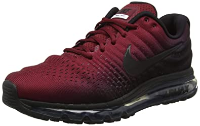 sale retailer 37824 ed678 Nike Air Max 2017, Chaussures de Fitness Homme, Multicolore Black Team Red  001