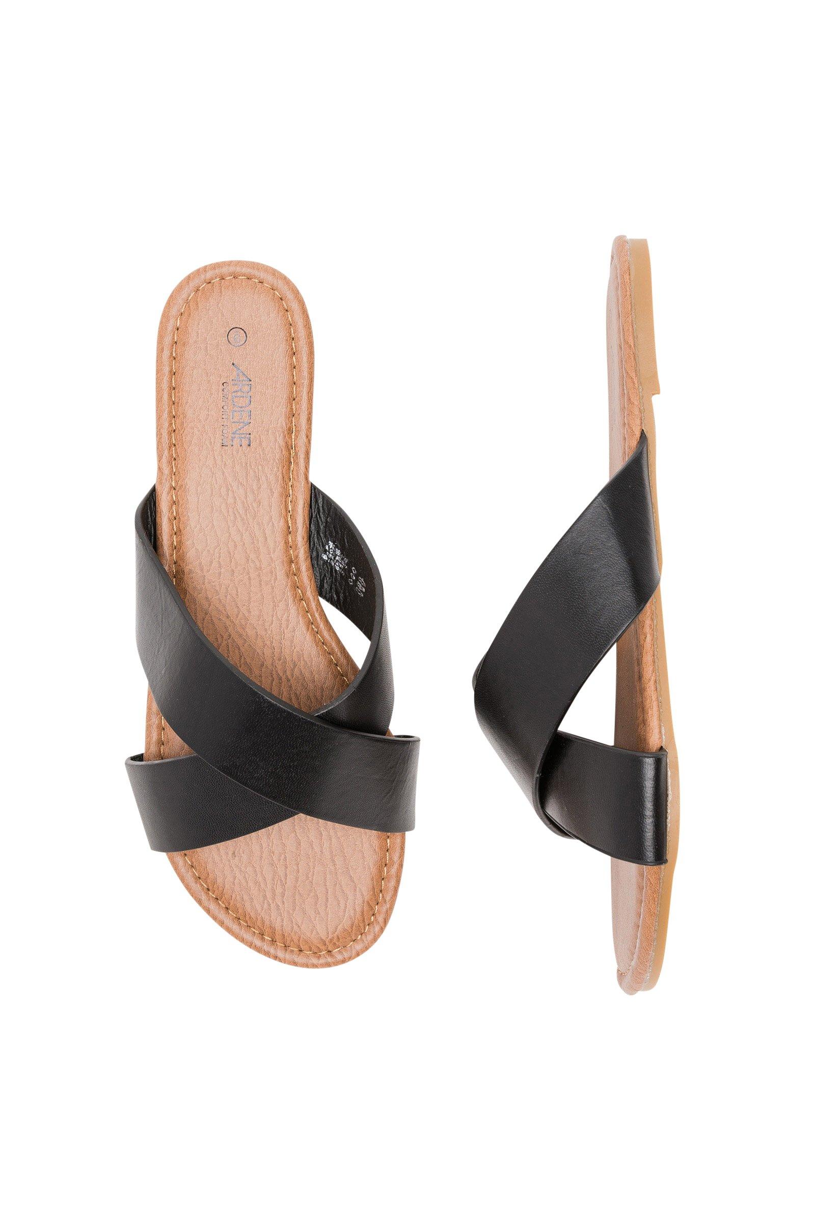 Ardene - Women's - Slides - Crossed Slides 7 -(8A-FW01355)