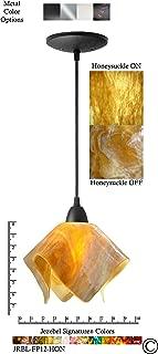 product image for Jezebel Signature JRBL-FP12-HON Black Flame Pendant, Small, Honeysuckle