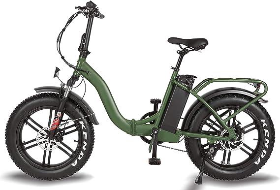 T4B Fat Green - Bicicleta eléctrica portátil Plegable de 2 vías ...