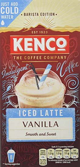Kenco Iced Latte Vanilla Instant Coffee 8 Sachets 230 G