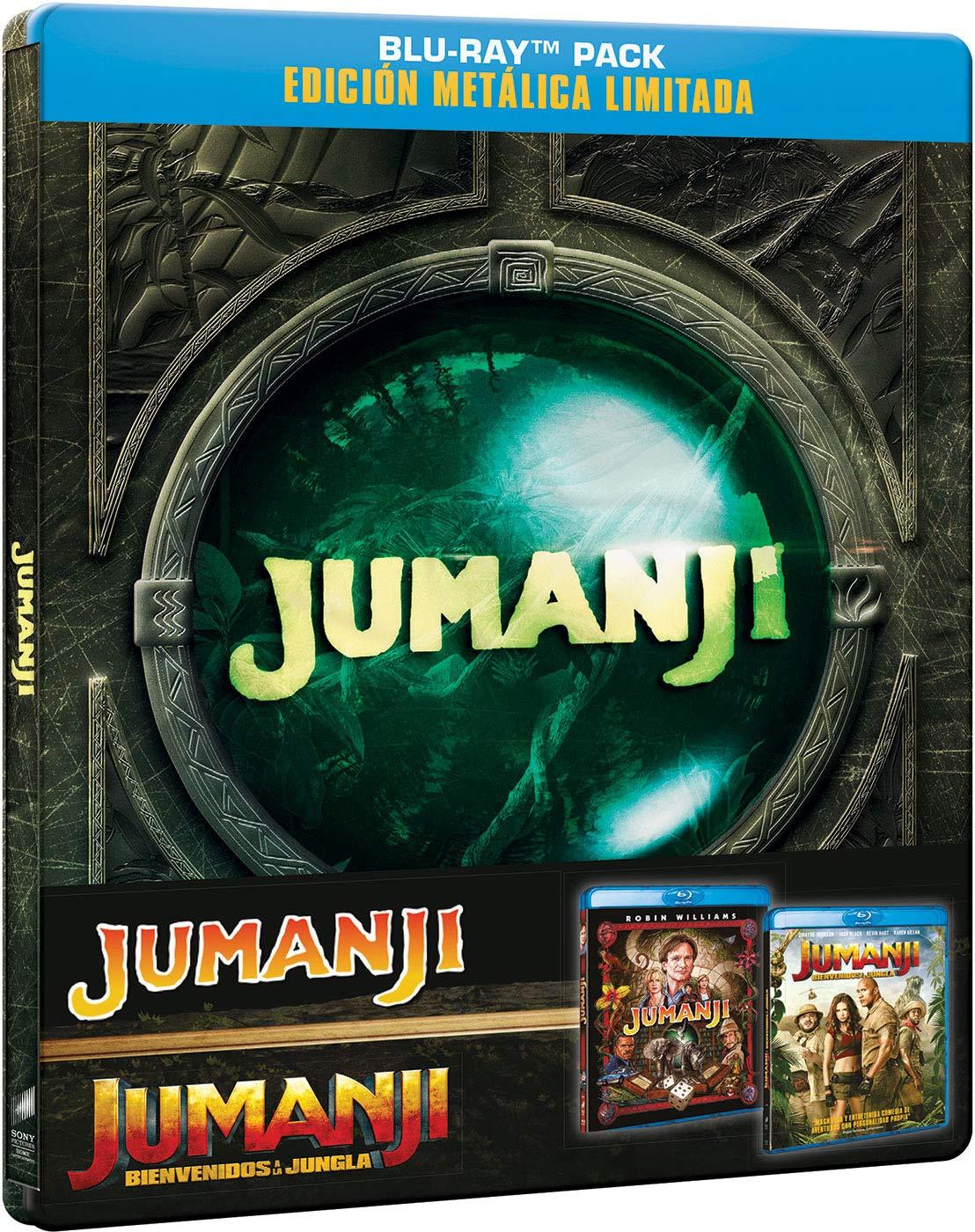 Jumanji 1 + Jumanji 2 BD - Edición Limitada Metal Blu-ray: Amazon ...
