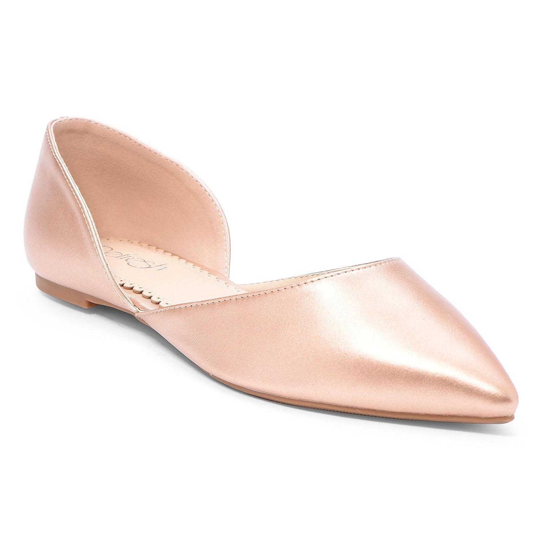 Women's Ballet Flat D'Orsay Comfort Light Pointed Toe Slip On Casual Shoes B079YP2V72 10 B(M) US|Rose Gold