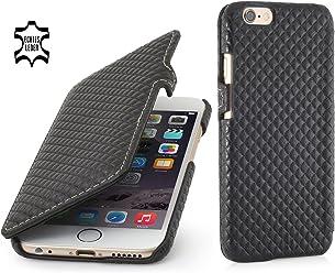 """StilGut Book Type Case con clip, custodia in vera pelle a libro per Apple iPhone 6s (4.7""""), Chester"""
