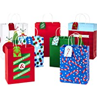 7-Pack Hallmark Christmas Assorted Gift Bag Bundle with Mix-n-Match Gift Tags