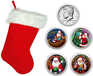 product image for American Coin Treasures Santa Coin Collection In Christmas Stocking
