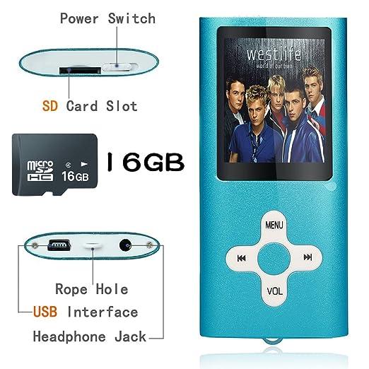226 opinioni per Tabmart Metal Hi-Fi Capacità Di 16GB Lettore MP3 Musicale Portatile Lettore MP4