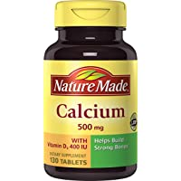 130-Count Nature Made Calcium (Carbonate) 500 mg with Vitamin D3 400 IU Tablets