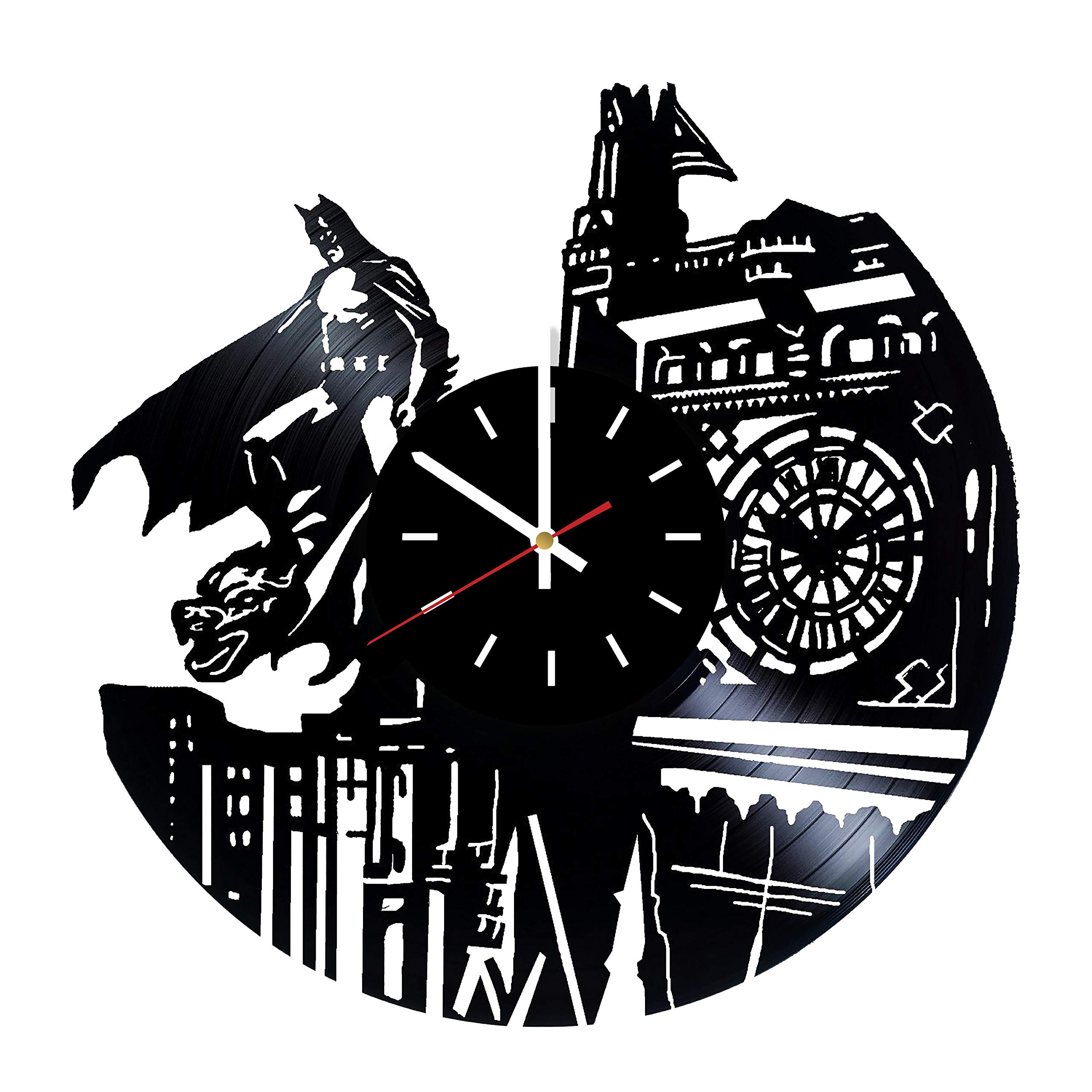 Everyday Arts Batman American Comic Books Design Vinyl Record Wall Clock - Get Unique Bedroom or Garage Wall Decor - Gift Ideas for Friends, Brother - Darth Vader Unique Modern Art