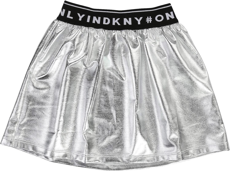 DKNY - Falda - para niña Plata 10 años: Amazon.es: Ropa y accesorios