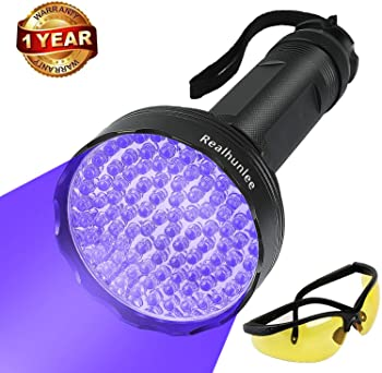 REALHUNLEE UV Black Light Flashlight