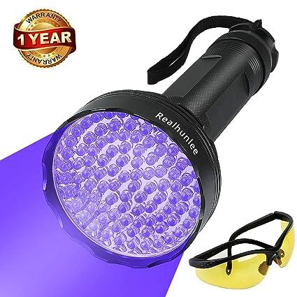 Amazon.com: Linterna de luz ultravioleta negra, LED ...