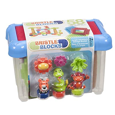 Bristle Blocks by Battat – The Official Bristle Blocks – 58Piece In A Bucket – Creativity Building Toys for Dexterity & Fine Motricity – Bpa Free 2 years +: Toys & Games