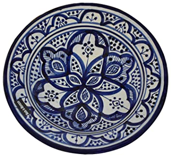 Ceramic Plates Moroccan Handmade Serving Wall Hanging Exquisite Colors Decorative Large 12 inches Diameter  sc 1 st  Amazon.com : moroccan decorative plates - pezcame.com