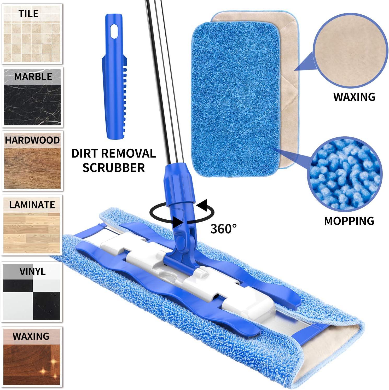 Mopas Mopas de microfibra reversible azul