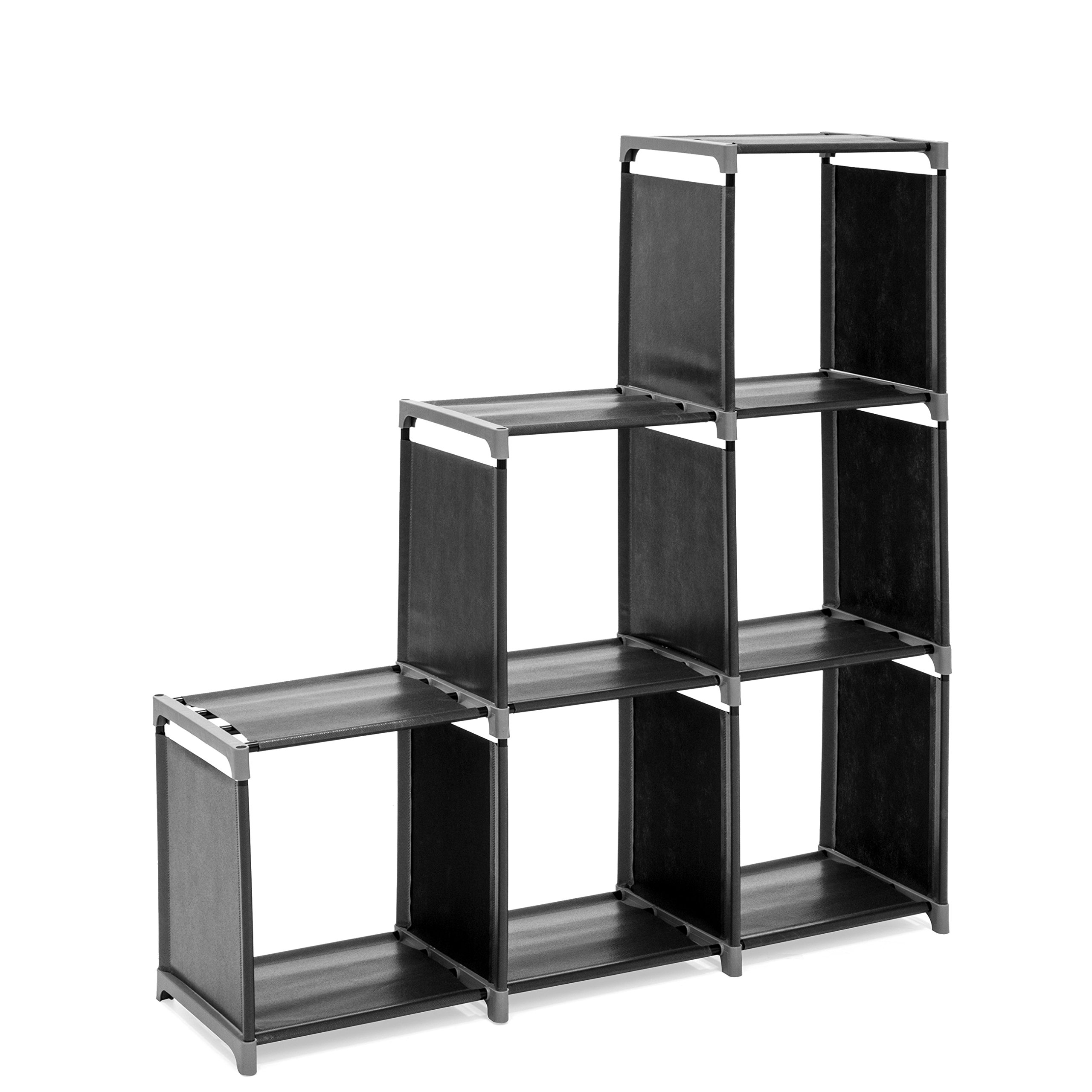 Best Choice Products 6-Drawer Multi-Purpose Shelving Cubby Storage Cabinet (Black) by Best Choice Products (Image #2)