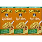 Annie's Homegrown Macaroni & Cheese - Shells & Real Aged Cheddar - 6 oz - 3 Pack