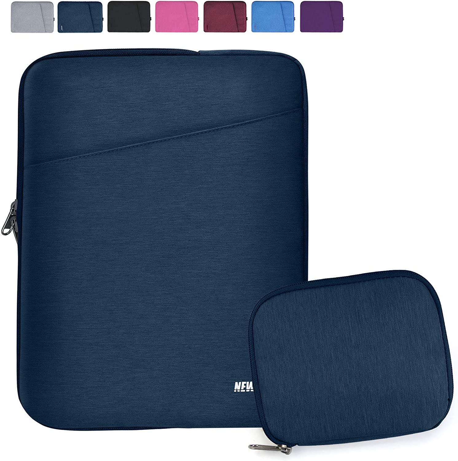 "NEWHEY Laptop Sleeve 15.6 Inch Computer Bag Multi-Color Choices Case, Water-Resistant Notebook Pocket Tablet Briefcase,Compatible with 15.4-Inch MacBook Pro 2012 A1286,and Most 15.6"" Laptop,Navy Blue"