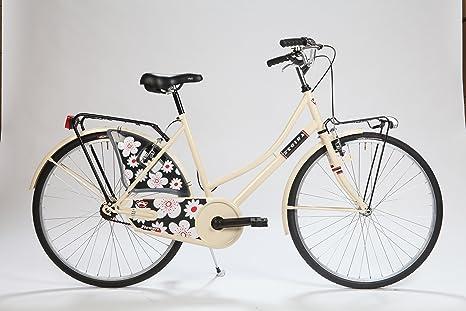 LA Olanda Flowers Cream: Bicicleta Paseo Mujer: Amazon.es ...