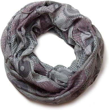 cerchi colorati e pois 01016012 styleBREAKER sciarpa scaldacollo con design etnico