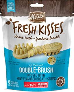 product image for Merrick Fresh Kisses Oral Care Dental Dog Treats for Medium Dogs 25-50 lbs