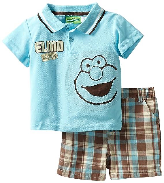 Amazon.com: Barrio Sésamo bebé Boys 2 piezas Knit Camisa y ...