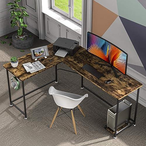 HABILY Modern L-Shaped Home Office Desk