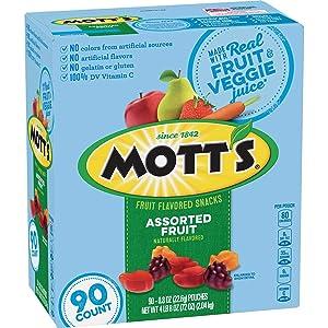 Mott's Medley Assorted Fruit Snacks (0.8 Oz., 90 ct.) Net Wt 72 Oz