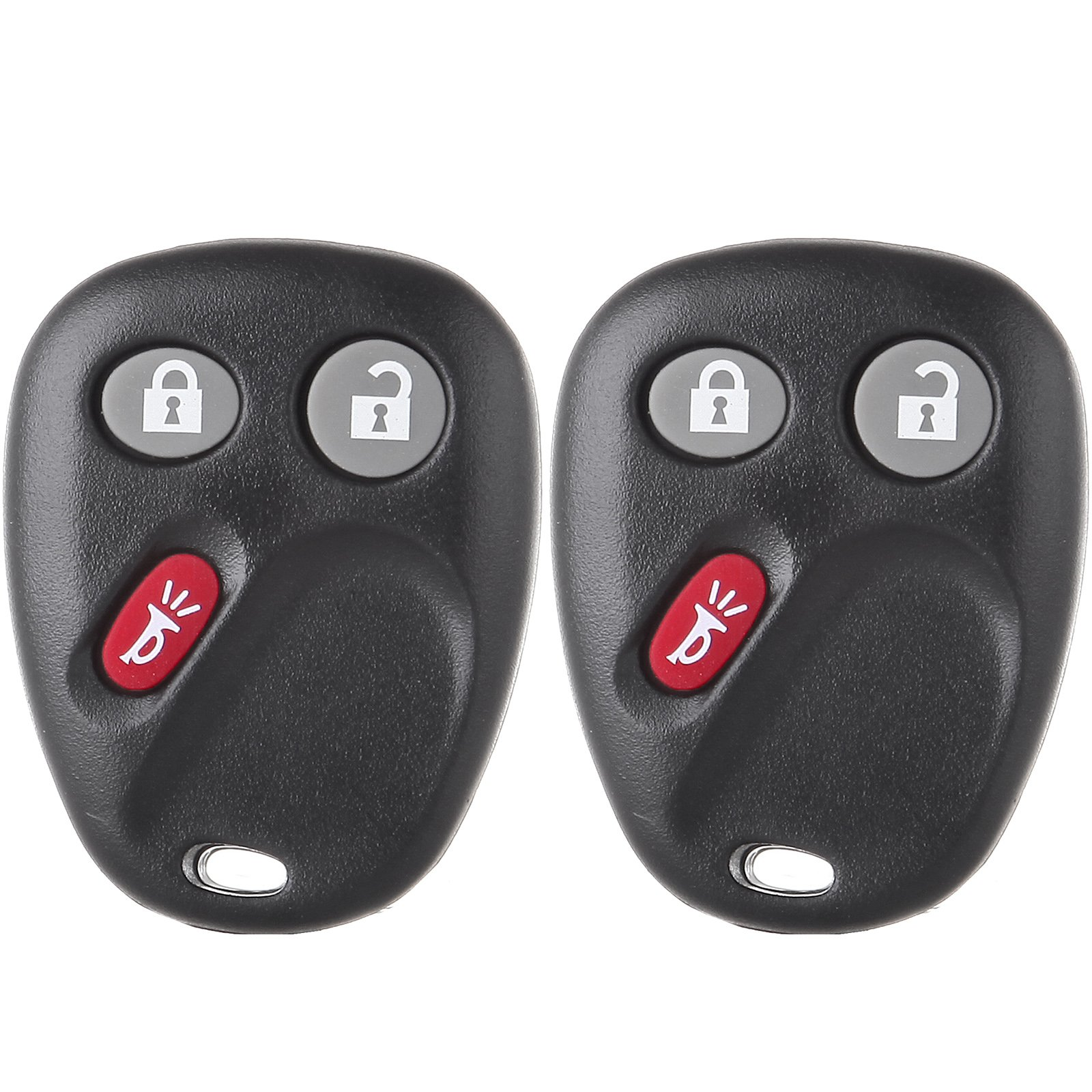 ECCPP 2X 3 Button 315MHz Replacement Keyless Entry Remote Control Key Fob for Chevy Trailblazer/GMC Envoy/Buick Rainier/Isuzu Ascender/Oldsmobile Bravada MYT3X6898B