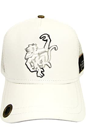 e5589822ae5 Image Unavailable. Image not available for. Color  Red Monkey Grad Logo  Trucker Hat White Black