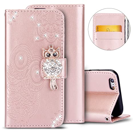 5e4d7c9b4d00 Coque iPhone 6,Etui iPhone 6S,Herbests Housse Portefeuille iPhone 6 6S Coque