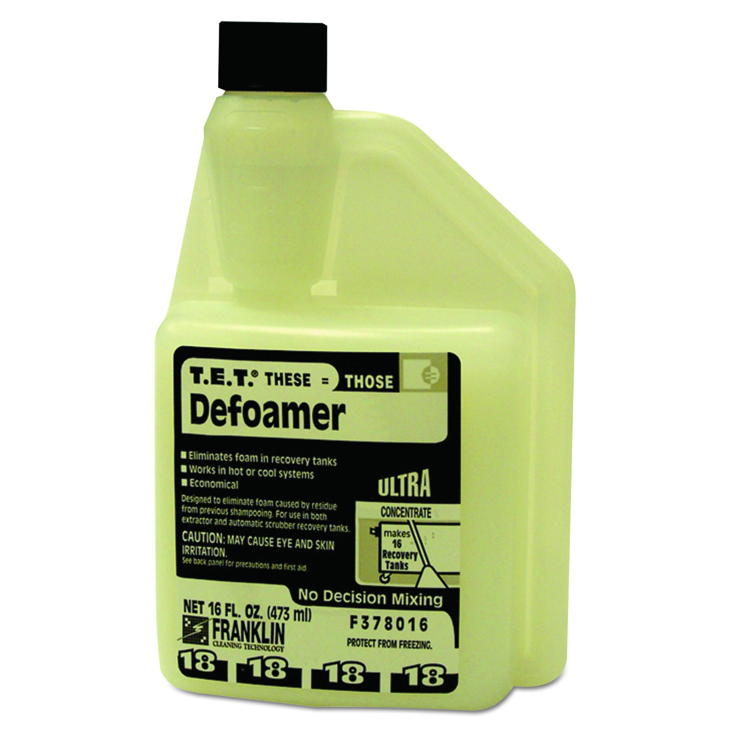 Franklin Cleaning Technology F378016 T.E.T. #18 Defoamer, 16 Ounce (Pack of 2)
