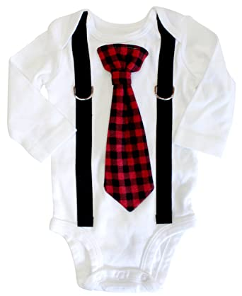 ffe8ccbeb Image Unavailable. Image not available for. Color: Cuddle Sleep Dream Baby  Boy Christmas Outfit, Buffalo Plaid ...