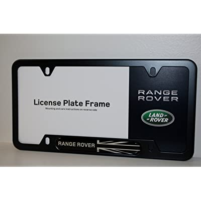 Genuine Land Rover/Range Rover Black Jack License Plate Frame - Matte Black Finish: Automotive [5Bkhe0810533]