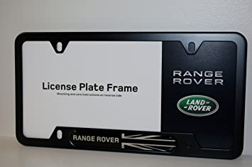 genuine land roverrange rover black jack license plate frame matte black finish