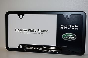 genuine land roverrange rover black jack license plate frame matte black finish