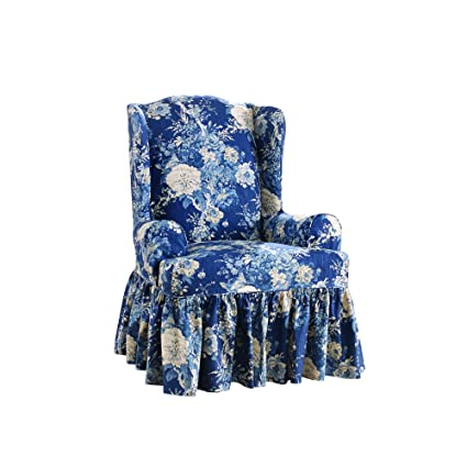 Phenomenal Sure Fit Ballad Bouquet By Waverly Wing Chair Slipcover Indigo Sf44713 Inzonedesignstudio Interior Chair Design Inzonedesignstudiocom