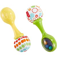 Fisher-Price Rattle N Rock Maracas, Green/Yellow [Frustration Free Packaging], Único