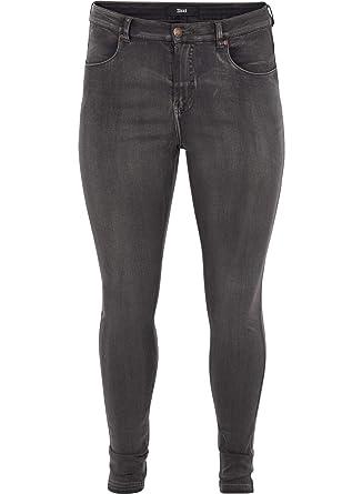 c5bdf18d70a8 zizzi Amy Damen Jeans Super Slim Jeanshose Stretch Hose, Große Größen 42-56   Amazon.de  Bekleidung