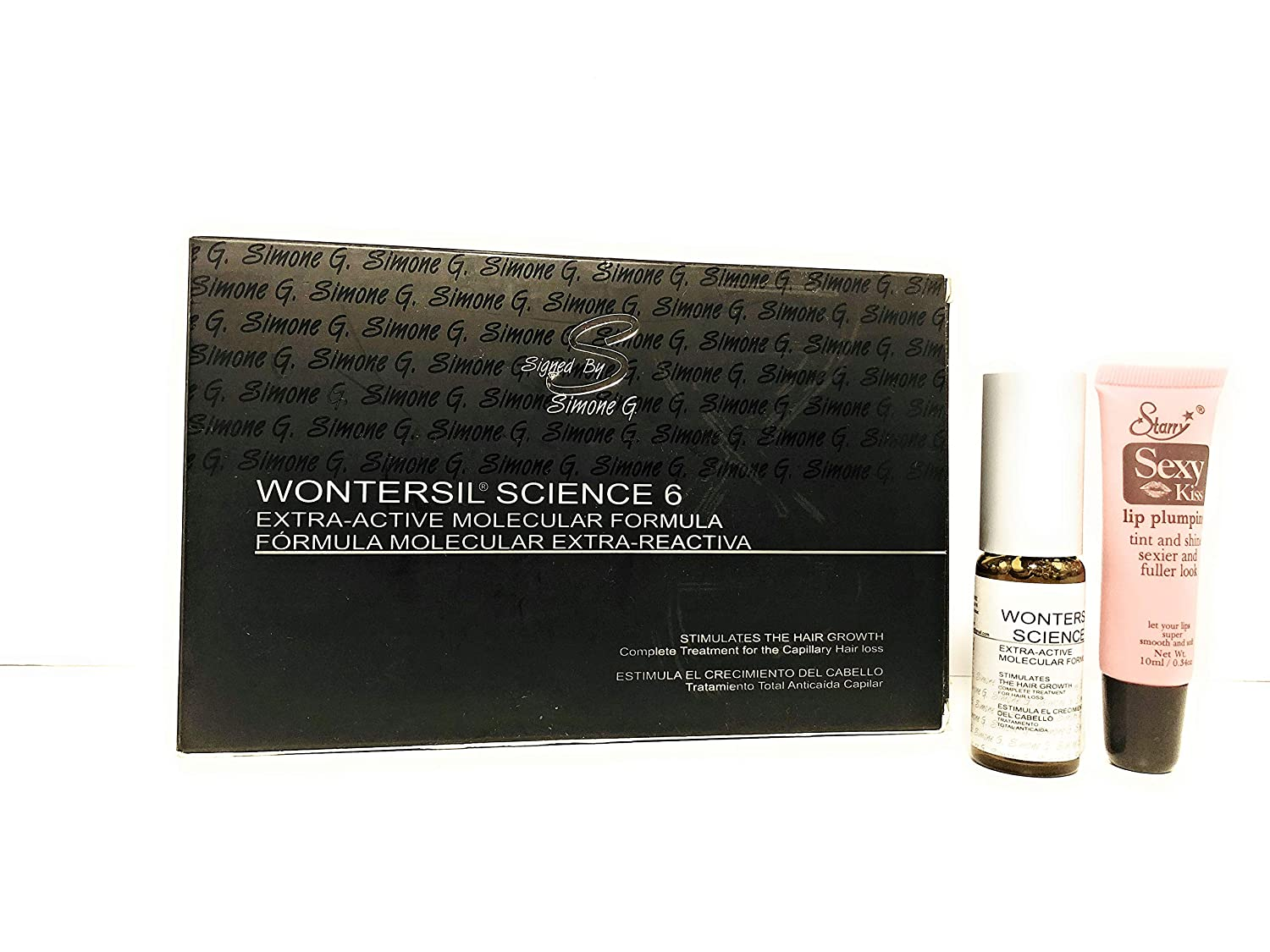 Amazon.com : Signed By Simone G Wontersil Science 6 for Hair Growth 6 Vials : Hair Regrowth Treatments : Beauty