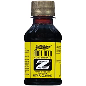 Root Beer Zatarain's Concentrate, 4 Ounce Plastic Bottles (Pack of 12)